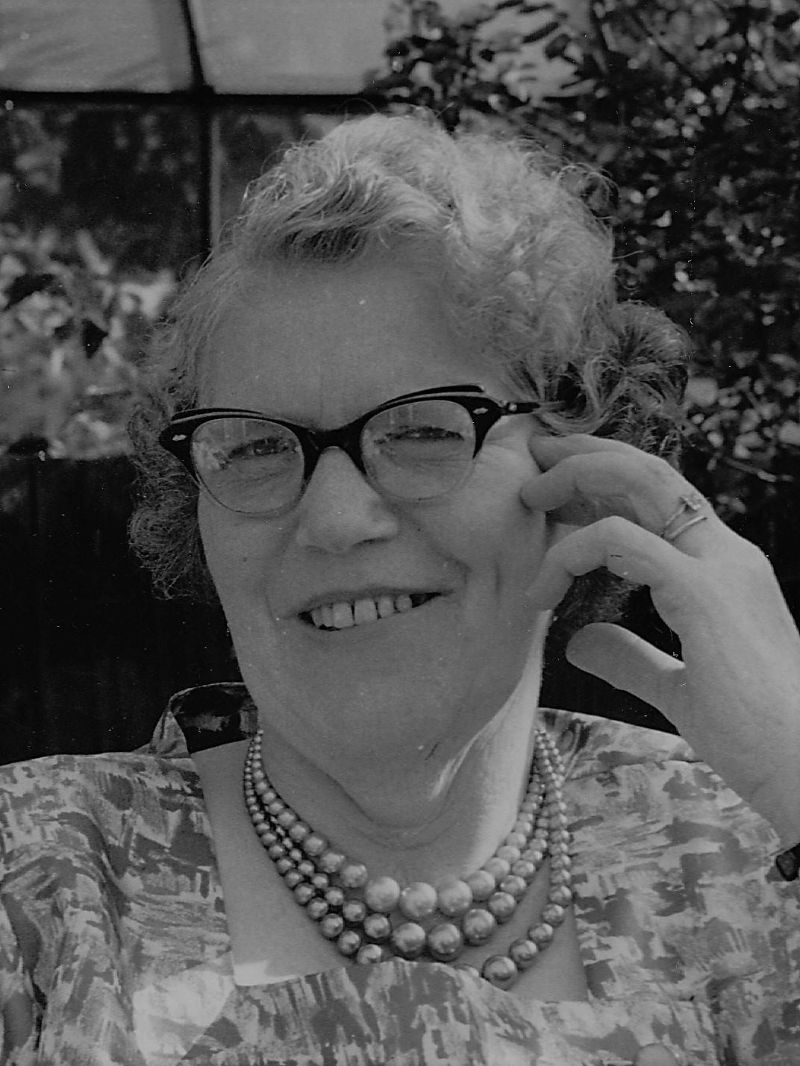 Photo of Ethel Mary (nee Taylor) Buist about 1960